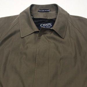 CHAPS TAN MICROFIBER Mens Lined Trench Coat XL